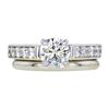 0.91 ct. Round Cut Bridal Set Ring, H, SI1 #3
