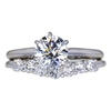 1.08 ct. Round Cut Bridal Set Ring, I, SI2 #3