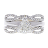 1.21 ct. Triangular Cut Bridal Set Ring, G-H, I1 #1