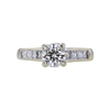 0.87 ct. Round Cut Solitaire Ring, I-J, SI2 #2