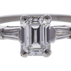 0.95 ct. Emerald Cut Bridal Set Ring, F, VVS2 #4