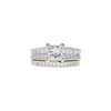 1.03 ct. Princess Cut Bridal Set Ring, J, SI1 #3