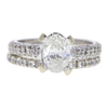 0.88 ct. Oval Cut Bridal Set Ring, I, SI1 #3