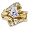 1.07 ct. Pear Cut Bridal Set Ring, D, SI1 #3