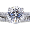 2.26 ct. Round Cut Bridal Set Ring #1