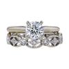 1.00 ct. Round Cut Bridal Set Ring, H, SI1 #3