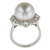 Round Cut Right Hand Tiffany & Co. Ring, White #3