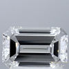 1.32 ct. Emerald Cut Bridal Set Ring, F, SI1 #1