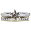 0.96 ct. Round Cut Bridal Set Ring, F, VS1 #3