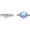 1.01 ct. Round Cut Bridal Set Ring, G, VS2 #3
