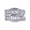 1.53 ct. Round Cut Bridal Set Ring, F, I1 #4