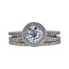 1.01 ct. Round Cut Bridal Set Ring, G, VS2 #3