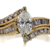.98 ct. Marquise Cut Bridal Set Ring #1