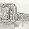0.98 ct. Princess Cut Halo Ring #2