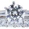 1.10 ct. Round Cut Bridal Set Ring, J, VS2 #4