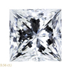 1.56 ct. Princess Cut Stud Earrings, H, SI1 #3