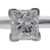 1.51 ct. Princess Cut Solitaire Ring, G, I2 #4