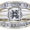 0.75 ct. Princess Cut Bridal Set Ring, I, SI1 #4
