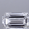 0.97 ct. Emerald Cut 3 Stone Ring, D, SI2 #1