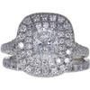 0.91 ct. Modified Cushion Cut Bridal Set Ring, E, VS2 #3