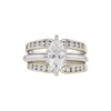0.88 ct. Marquise Cut Bridal Set Ring, F-G, SI1-SI2 #2