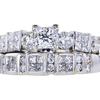 0.77 ct. Princess Cut Bridal Set Ring, G, VVS2 #2