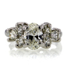 1.33 ct. Oval Cut Central Cluster Ring #4