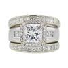2.01 ct. Radiant Cut Bridal Set Ring, E, VS1 #3