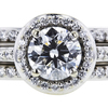 1.03 ct. Round Cut Bridal Set Ring, E, SI1 #4