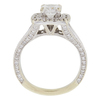0.96 ct. Cushion Cut Bridal Set Ring, F, I1 #4