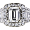 1.01 ct. Emerald Cut Halo Ring, E, VS1 #4