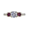 0.79 ct. Round Cut 3 Stone Ring, D, SI1 #3