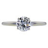 0.96 ct. Round Cut Solitaire Ring, H, I1 #3