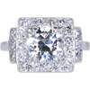 1.70 ct. Round Cut Halo Ring, G, I1 #1