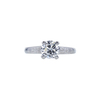 1.01 ct. Round Cut Solitaire Ring, F, I1 #3