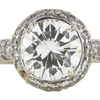 2.51 ct. Round Cut Halo Ring, L, SI1 #1