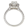1.6 ct. Cushion Cut Halo Ring, J, SI2 #3