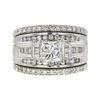0.95 ct. Princess Cut Bridal Set Ring, H-I, I1 #2