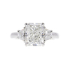 3.06 ct. Radiant Cut 3 Stone Ring, H, SI1 #2