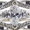 0.90 ct. Marquise Cut Bridal Set Ring, F, VVS2 #4