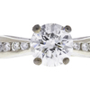 1.38 ct. Round Cut Bridal Set Ring, H, I1 #4