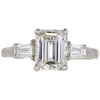 2.03 ct. Emerald Cut 3 Stone Ring, H, VS2 #2