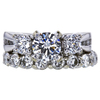 0.75 ct. Round Cut Bridal Set Ring, G, VS2 #1