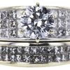 1.10 ct. Round Cut Bridal Set Ring, I-J, I2-I3 #4