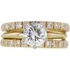 0.96 ct. Round Cut Bridal Set Ring, F, SI2 #3