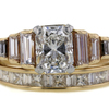 1.17 ct. Radiant Cut Bridal Set Ring #1