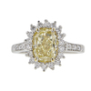 2.31 ct. Cushion Cut Halo Ring, Fancy, SI2-I1 #2
