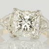 4.54 ct. Princess Cut 3 Stone Ring #1