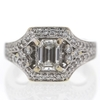 .93 ct. Emerald Cut Central Cluster Ring #3
