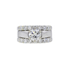 1.12 ct. Round Cut Bridal Set Ring, H, SI2 #3
